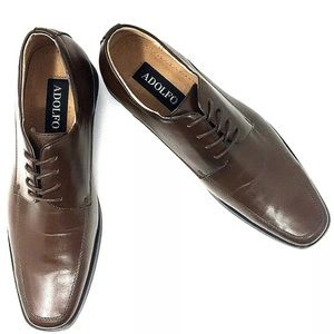 Adolfo Aldo-4 Faux Leather Lace Up Dress Shoes